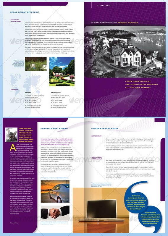 Best Free And Premium Corporate Brochure Templates Free - 4 page brochure template