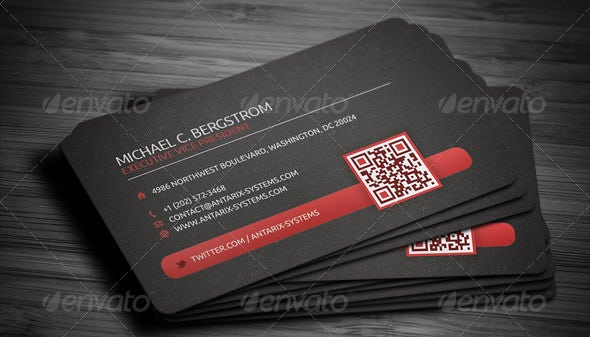 34 best qr code business card examples identity mockups free creative qr code business card colourmoves Images