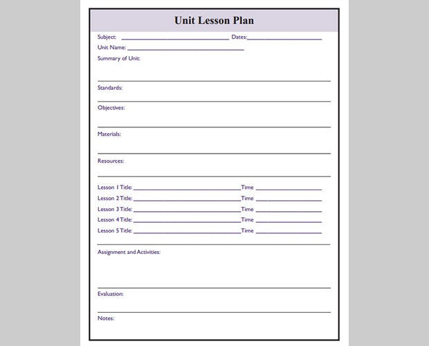 Free Download Lesson Plan Template Jellyfish Cartel