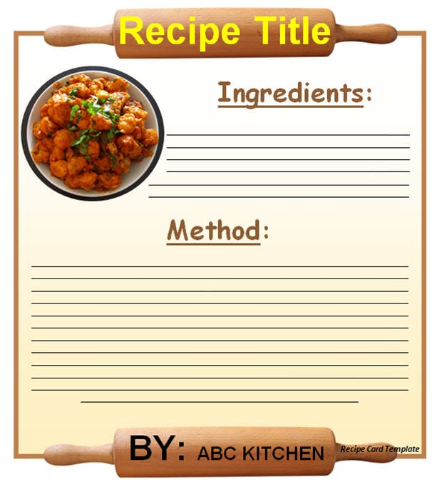 20 Free Recipe Card Page Book Templates – Free Recipe Card Templates for Microsoft Word