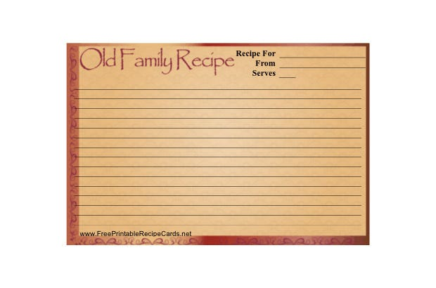 20 free recipe card page amp book templates free