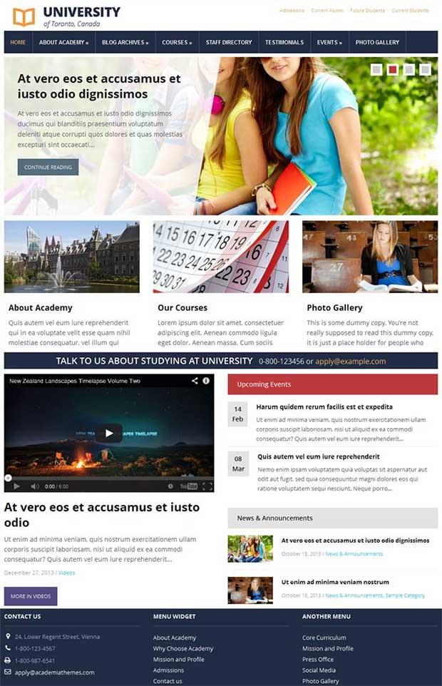 25+ Best Premium School Website Templates | Free & Premium Templates