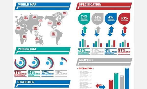 Psd infographic element 73 free psd eps vector format vector infographics of world map infographics with world elements which have additional pie and bar charts free demo download gumiabroncs Gallery
