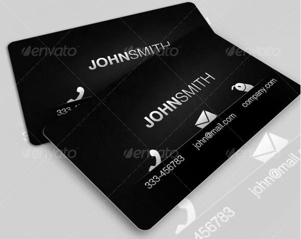 45+ Excellent Black Business Card Templates