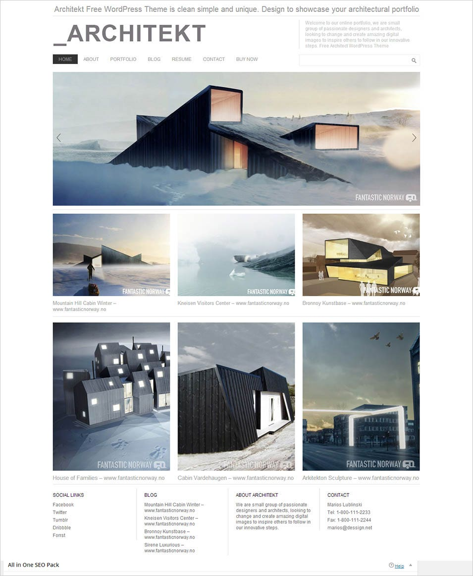 30 best wordpress themes templates for architects free for Architecture design websites free