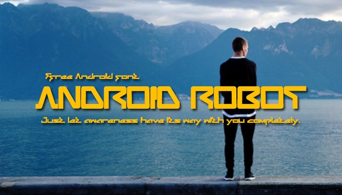 android robot android font