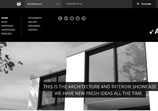 architecture wordpress website theme