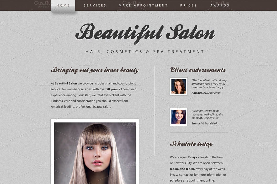 18+ Beauty Salon Website Templates | Free & Premium Templates