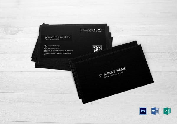 34 best qr code business card examples identity mockups free black business card template flashek Images