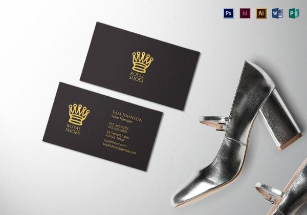 black minimal business card template