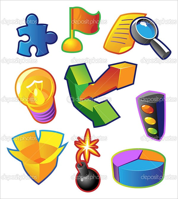 business metaphors colorful vectors