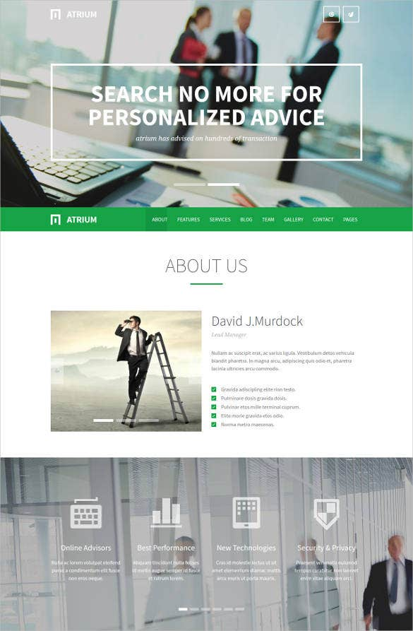 business one page parallax wordpress theme2