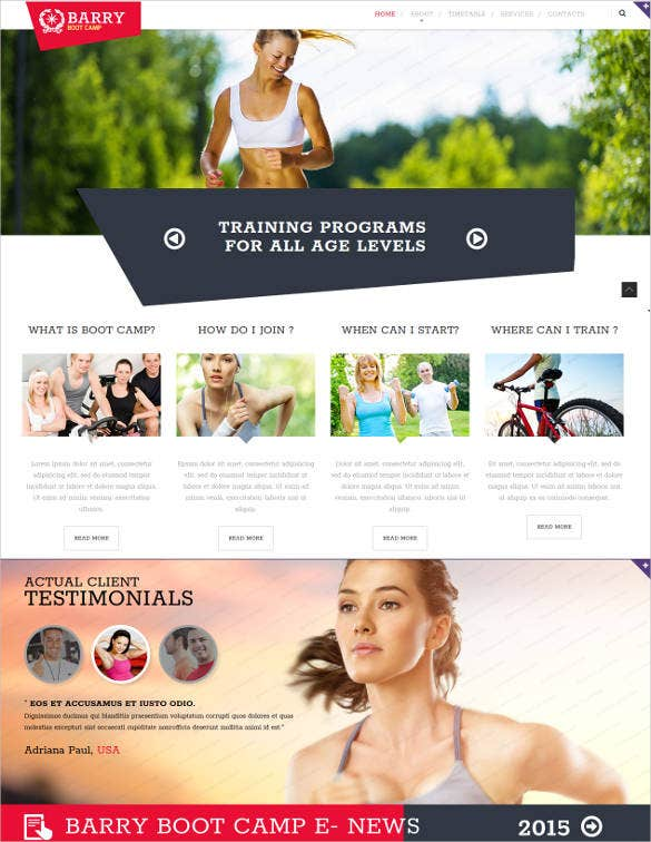 camping html website template1