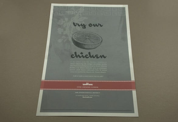 chinese restaurant flyer design