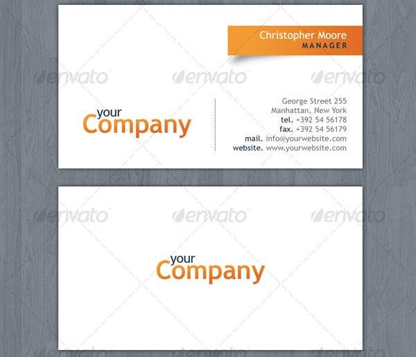 53 best premium business card template designs free premium clean business card template reheart Choice Image