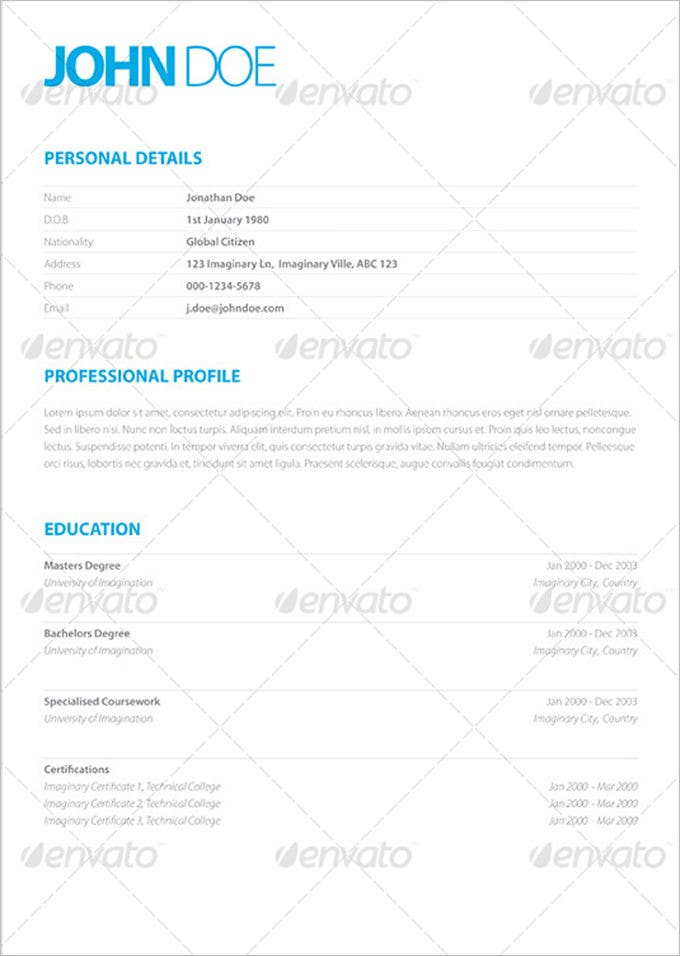clean elegant resume1