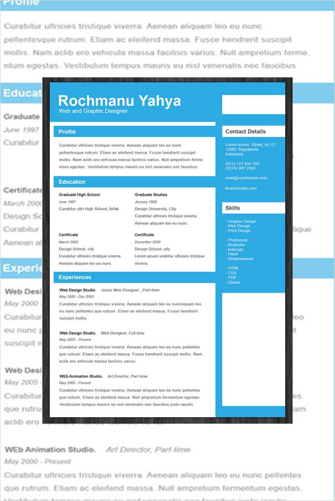 resume design template psd 11