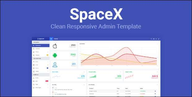clean responsive admin template1