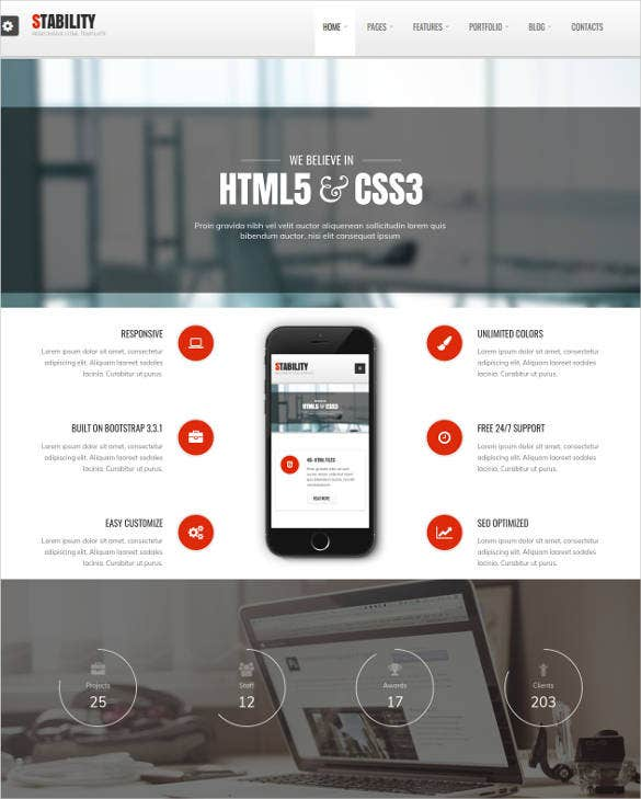 clean web responsive html5 css3 template1