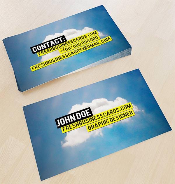 cloud business card template