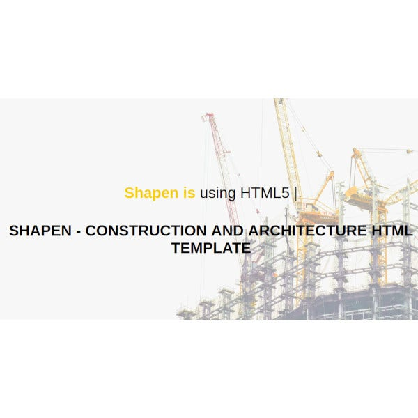 construction architecture template