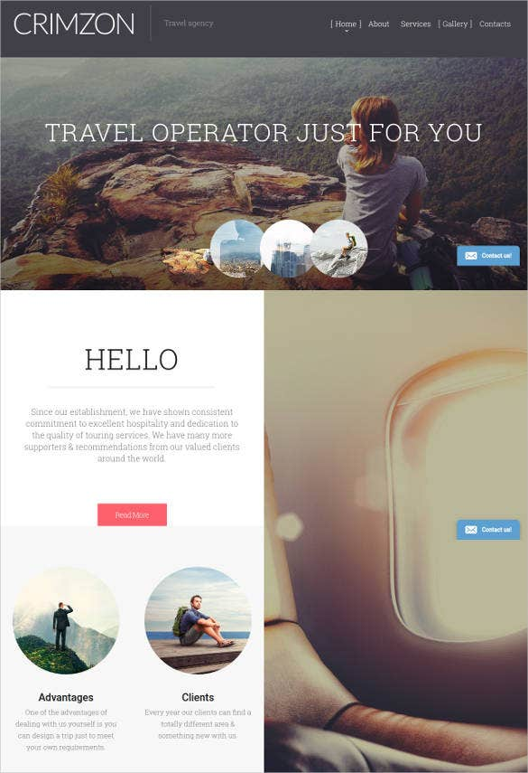 crimzon html website template