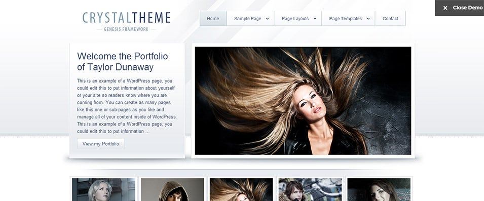 Crystal Wordpress Template