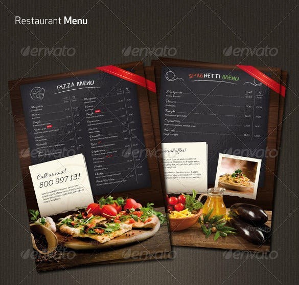 Dark Colour Restaurant Menu Flyer Template