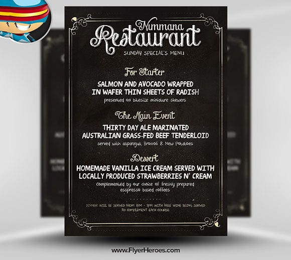68 restaurant flyer templates word pdf psd eps indesign