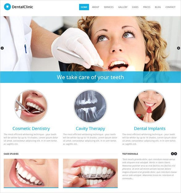 dental clinic responsive wordpress website theme