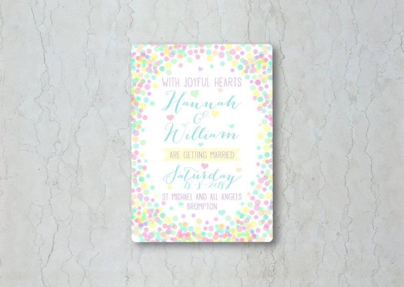 design confetti wedding invitation 788x559