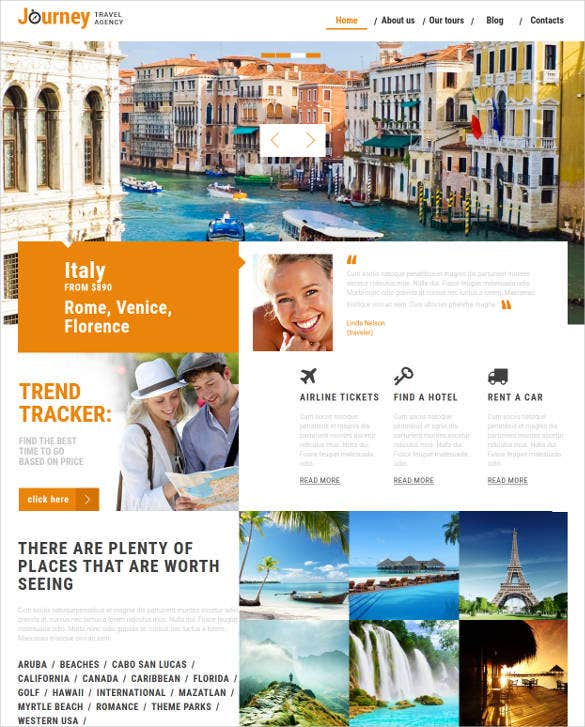 dream travel html website template2