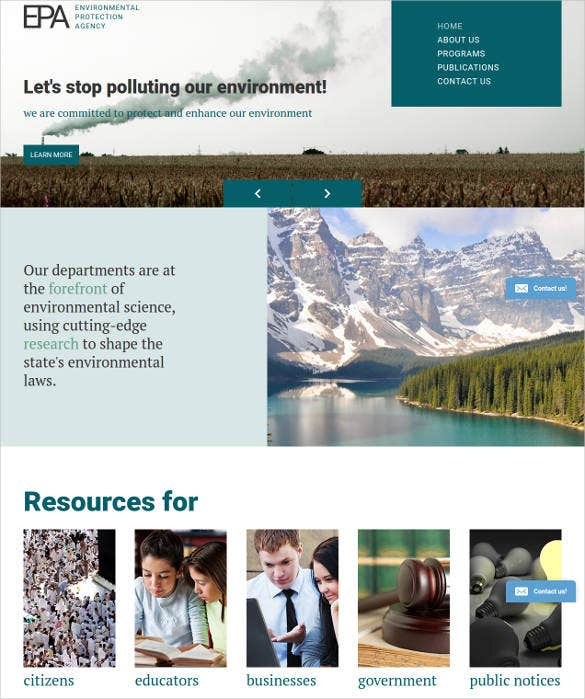 environment protection web template
