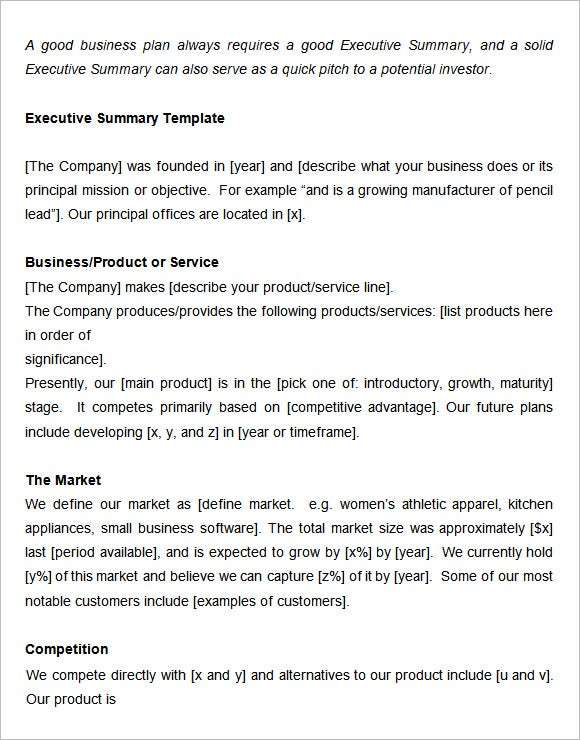 Executive Summary Templates Free Samples Examples amp Formats Free