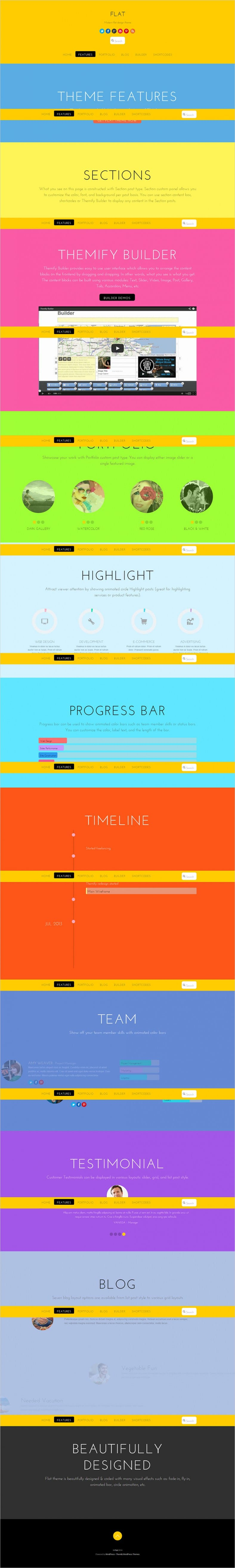 20 best flat design website templates free premium templates