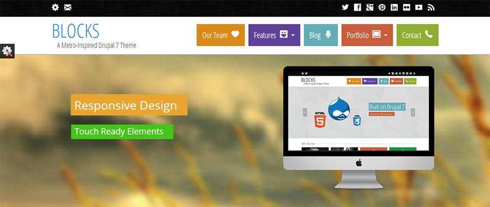 Blocks Responsive Template Drupal