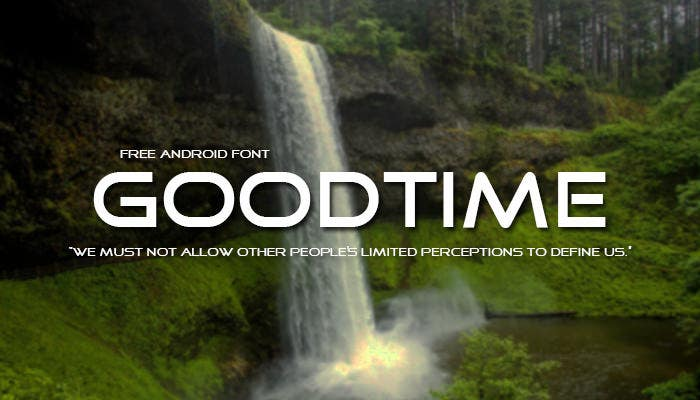 goodtime android font