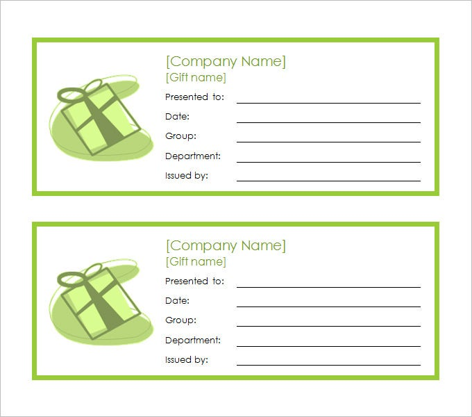 gift coupon template – Coupon Template Free