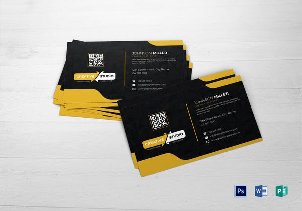 graphic designer business card in ms word