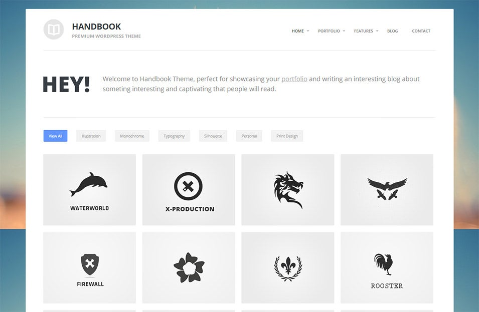 Handbook Wordpress Template