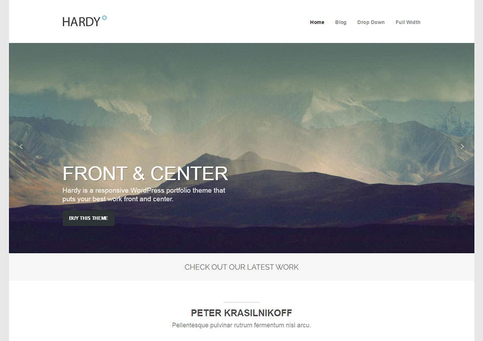 Hardy Wordpress Template