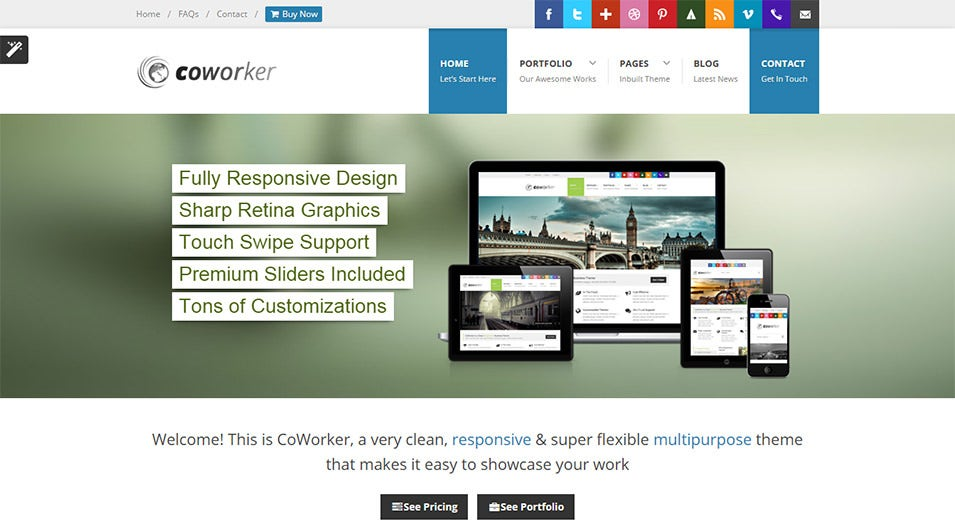 CoWorker Drupal Responsive Template
