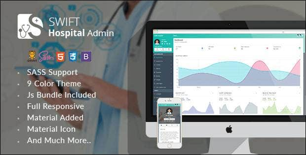 hospital admin dashboard theme11