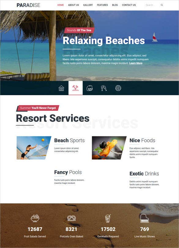 hot paradise travel joomla template1