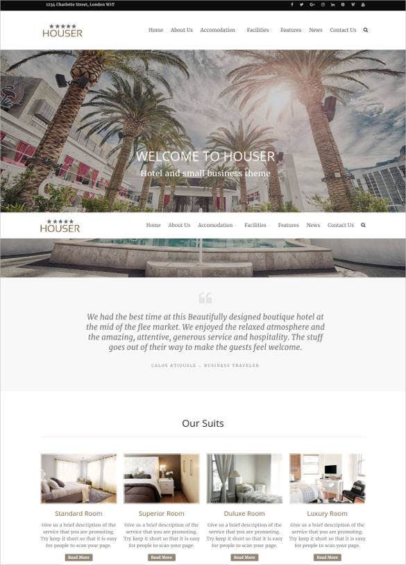 houser wp website template