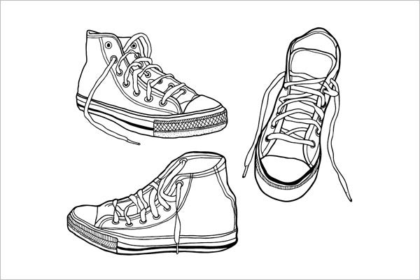illustrated vector sneaker graphics