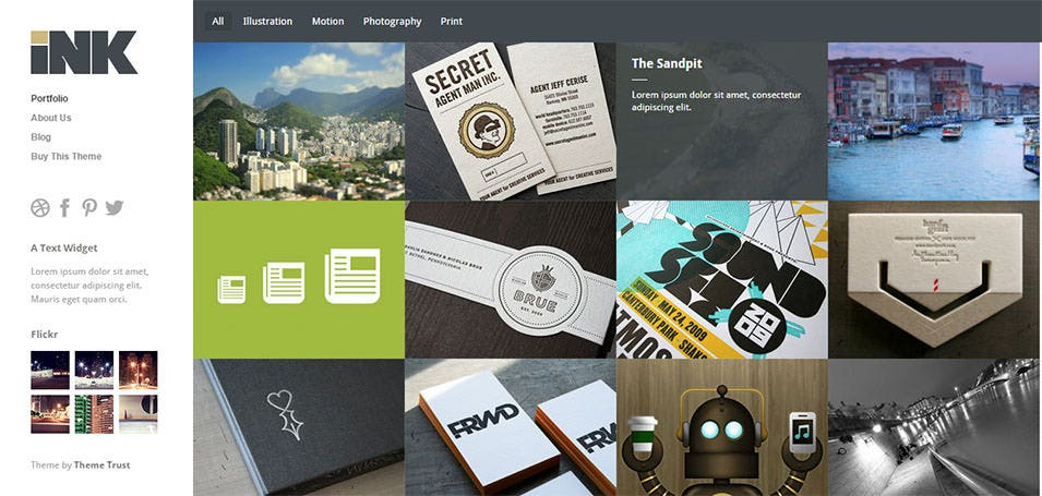 Ink Wordpress Template