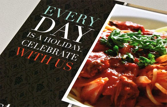 italian restaurant psd flyer template