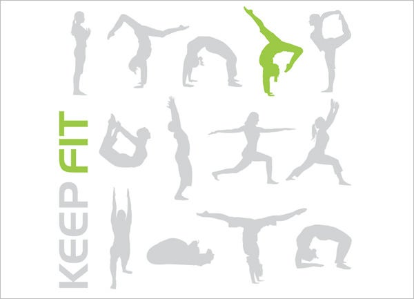 keep fit vectors