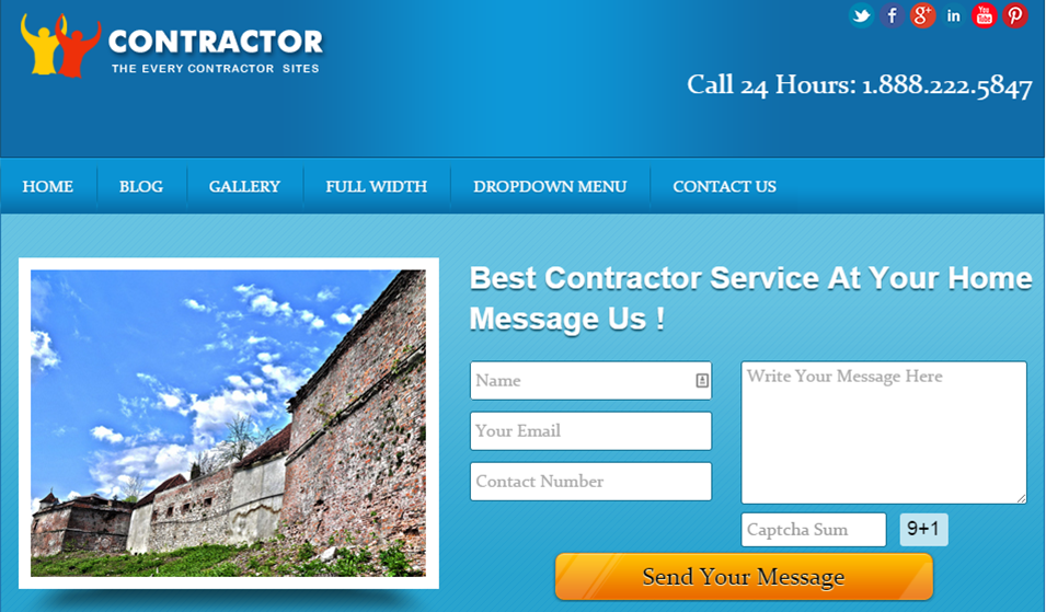 Local Business Contractor Wordpress Theme